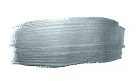 Srebny błyskotliwości farby muśnięcia uderzenia lub abstrakt odrobiny rozmaz z smudge teksturą na białym tle Odosobniony błyskotl Zdjęcia Stock