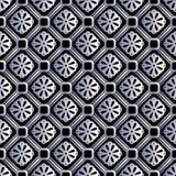 Srebny bezszwowy geometryczny retro wzór dla projekta Fotografia Stock