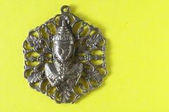 Srebny Buddha breloczka klejnot Obraz Royalty Free