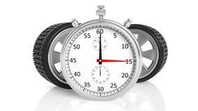 Srebny chronometr z aluminiowego aliażu obręczami Fotografia Stock