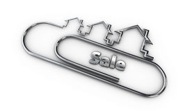 Srebny 3d nowożytnego projekta logo z sprzedaży słowa ilustracją Obrazy Stock