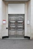 Srebny drzwi Fotografia Royalty Free