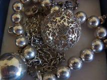 Srebny jewellery fotografia royalty free