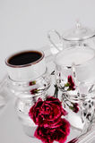 Srebny kawowy set Obraz Stock