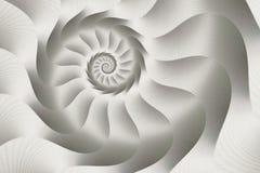 Srebny ślimakowaty abstrakt Fotografia Royalty Free