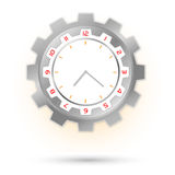 Srebny machinalny zegarek Zdjęcie Stock