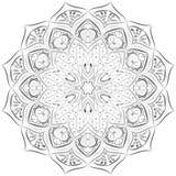 Srebny mandala wzór na białym tle fotografia royalty free