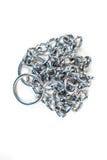Srebny metal dławi łańcuch fotografia stock