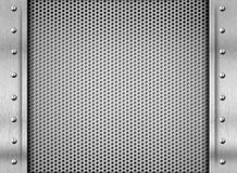 Srebny metal tekstury stalowego talerza tło fotografia royalty free