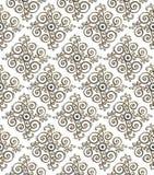 Srebny metalu talerz z klasycznym ornamentem z złotym odbiciem Fotografia Stock