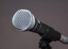 Srebny mikrofon Zdjęcia Royalty Free