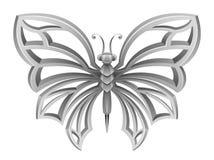 Srebny motyl Obraz Royalty Free