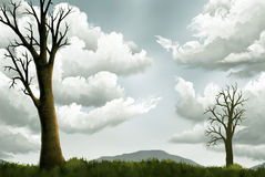 srebny niebo ilustracji