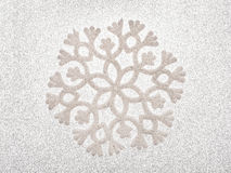Srebny płatka śniegu tło Zdjęcie Royalty Free