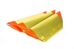 Srebny papier, złoto papier, joss papier dla Chińskiego świętowania, odizolowywający Zdjęcia Royalty Free