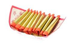 Srebny papier, złoto papier, joss papier dla Chińskiego świętowania z chińczykiem błogosławi słowo Zdjęcie Stock