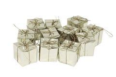 Srebny prezenta pudełko Obrazy Stock