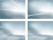 Srebny set 4 gradientowych siatki tła i fala Obraz Royalty Free