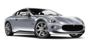 Srebny sporta coupe samochód zdjęcie royalty free