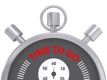 Srebny Stopwatch czas Iść Obraz Stock