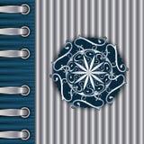 srebny szablon srebny rocznik Fotografia Royalty Free