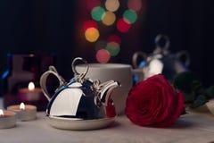 Srebny Tableware obrazy royalty free