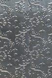Srebny tinfoill embossed tło Fotografia Royalty Free