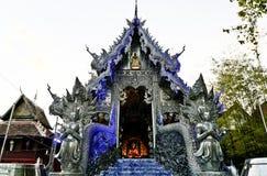 Srebny Ubosot Wat Sri Suphan Obrazy Stock
