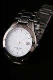 srebny zegarek obraz stock