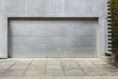 Srebra 2 samochodowy garaż Zdjęcie Stock