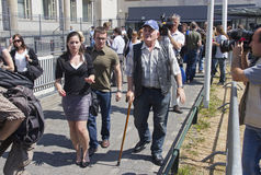 Srebrenica Man at The Hague Tribunal Royalty Free Stock Image