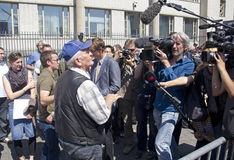 Srebrenica Man at The Hague Tribunal Royalty Free Stock Photo