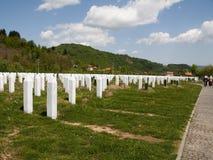 Srebrenica minnesmärkekomplex arkivbilder