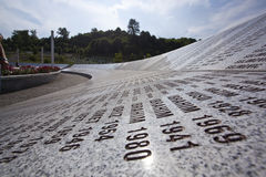 Srebrenica - Potocari, Bósnia e Herzegovina foto de stock
