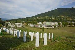 Srebrenica - Potocari, Bosnia and Herzegovina. Srebrenica-Potočari Memorial and Cemetery for the Victims of the 1995, Potočari is a village in eastern royalty free stock photo