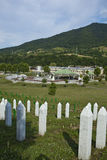 Srebrenica - Potocari Memorial Cemetery, Bosnia. Srebrenica-Potočari Memorial and Cemetery for the Victims of the 1995, Potočari is a village in eastern Bosnia stock images