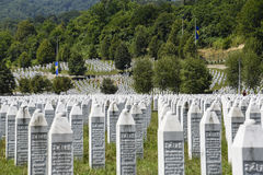 The Srebrenica-Potocari memorial and cemetery Royalty Free Stock Photo