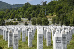 The Srebrenica-Potocari memorial and cemetery Royalty Free Stock Photography