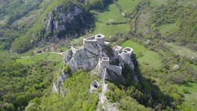 Srebrenik堡垒 免版税库存照片