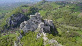 Srebrenik fortress. Located on the northeastern slopes of Majevica, in the village of Gornji Srebrenik, about 5 km from Srebrenik. It was built on a high, steep Royalty Free Stock Images