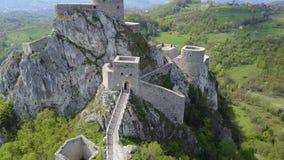 Srebrenik fortress. Located on the northeastern slopes of Majevica, in the village of Gornji Srebrenik, about 5 km from Srebrenik. It was built on a high, steep Stock Photo