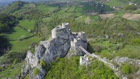 Srebrenik fortress. Located on the northeastern slopes of Majevica, in the village of Gornji Srebrenik, about 5 km from Srebrenik. It was built on a high, steep Royalty Free Stock Photography