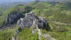 Srebrenik fortress. Located on the northeastern slopes of Majevica, in the village of Gornji Srebrenik, about 5 km from Srebrenik. It was built on a high, steep Stock Images