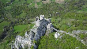 Srebrenik fortress. Located on the northeastern slopes of Majevica, in the village of Gornji Srebrenik, about 5 km from Srebrenik. It was built on a high, steep Stock Photos