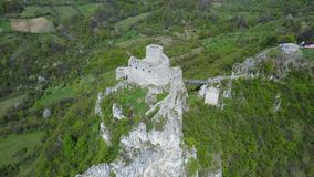 Srebrenik fortress. Located on the northeastern slopes of Majevica, in the village of Gornji Srebrenik, about 5 km from Srebrenik. It was built on a high, steep Royalty Free Stock Image