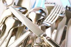 srebrna zastawa zdjęcia royalty free