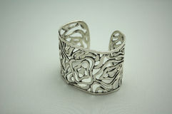 srebrne bransoletki Fotografia Royalty Free