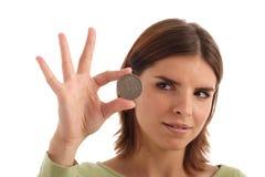 srebrne dolary Obrazy Stock