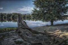 Srebrno jezero. Silver lake, a lake in Serbia Royalty Free Stock Photography