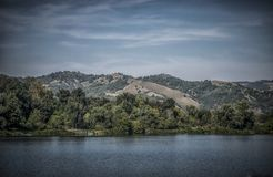 Srebrno jezero. Silver lake, a lake in Serbia Stock Photo